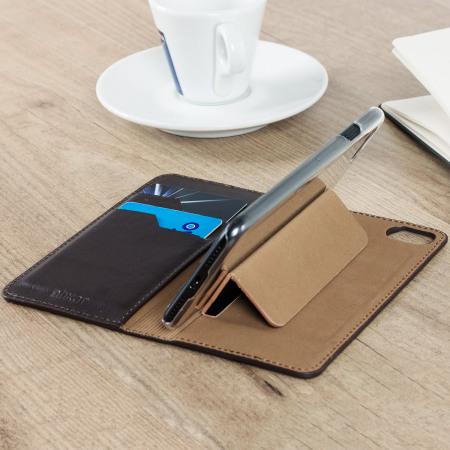 Olixar Genuine Leather iPhone 8 / 7 Executive Wallet Case - Brown