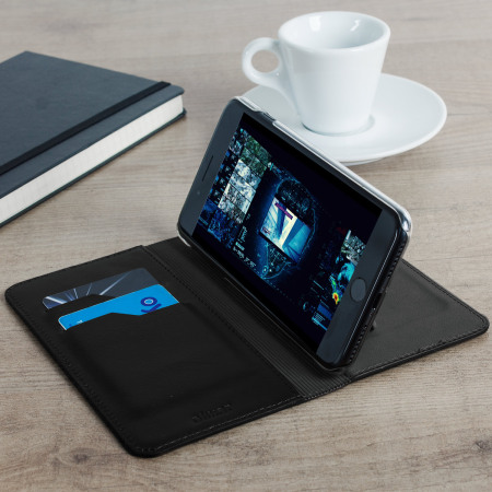 olixar genuine leather iphone 7 plus executive wallet case black keep