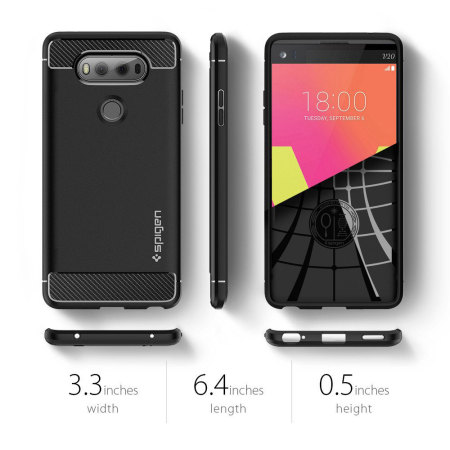Coque LG V20 Spigen Rugged Armor Tough - Noire