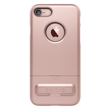Seidio SURFACE iPhone 7 Case & Metal Kickstand - Rose Gold
