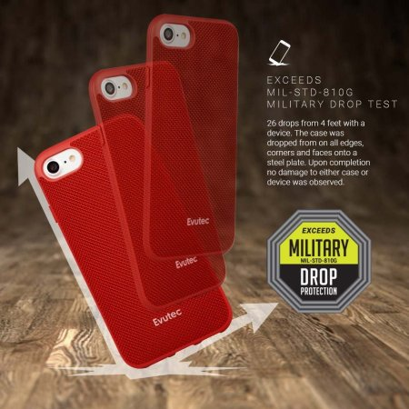Evutec AERGO Ballistic Nylon iPhone 7 Tough Case - Red
