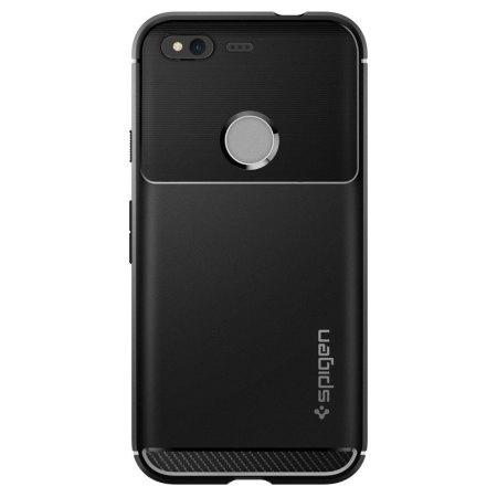 9acc46b778c Spigen Rugged Armor Google Pixel Tough Case - Black :: MobileFun.co.nz