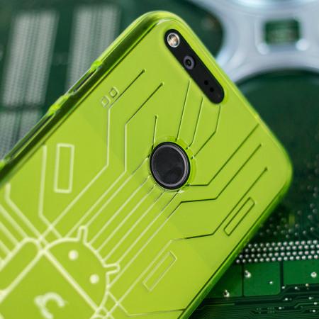 Cruzerlite Bugdroid Circuit Google Pixel Case - Green