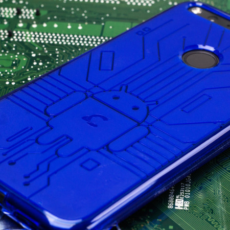 are sure cruzerlite bugdroid circuit google pixel case blue Says: December