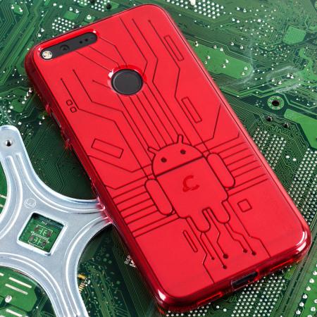 click here cruzerlite bugdroid circuit google pixel xl case red the iPad