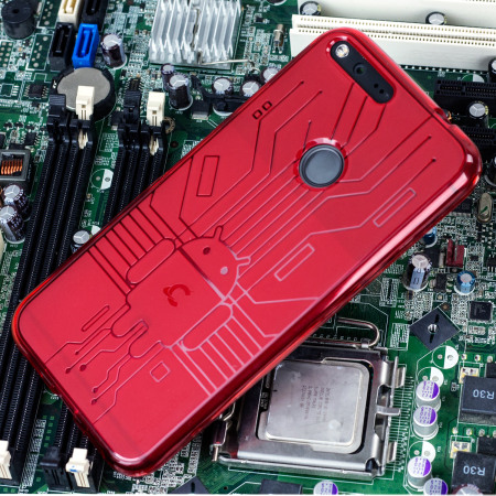 take look cruzerlite bugdroid circuit google pixel xl case red code