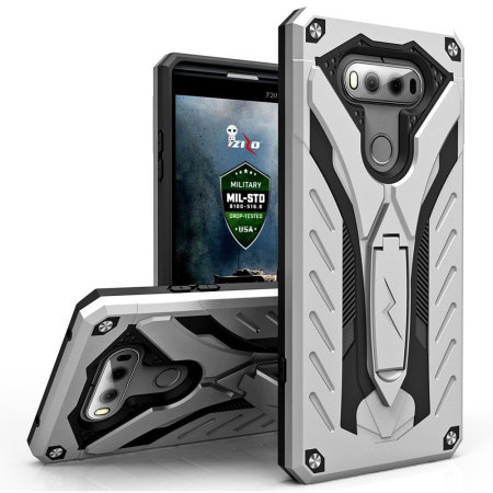 outlet store 70efc 8a108 Zizo Static Series LG V20 Tough Case & Kickstand - Silver / Black