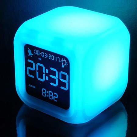 Mayhem Aurora LCD Colour Changing Alarm Clock