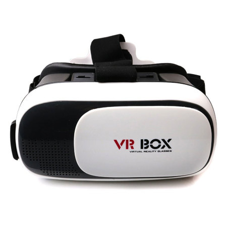 vr box virtual reality universal smartphone headset white black. Black Bedroom Furniture Sets. Home Design Ideas
