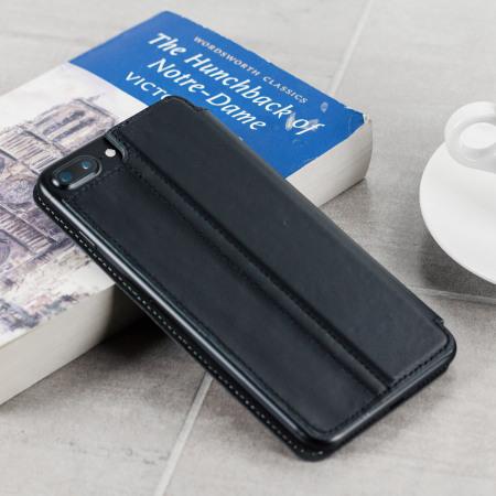 the latest e6b61 e2b70 Olixar Slim Genuine Leather iPhone 8 Plus / 7 Plus Wallet Case - Black
