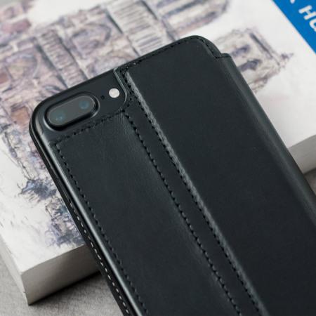 olixar slim iphone 8 plus 7 plus ledertasche flip case. Black Bedroom Furniture Sets. Home Design Ideas