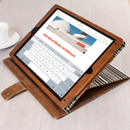 brand new 2b127 4a86e Tuff-Luv Alston Craig Vintage Leather iPad Pro 9.7 inch Case - Brown