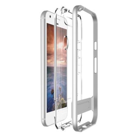 VRS Design Crystal Bumper Google Pixel Case - Light Silver
