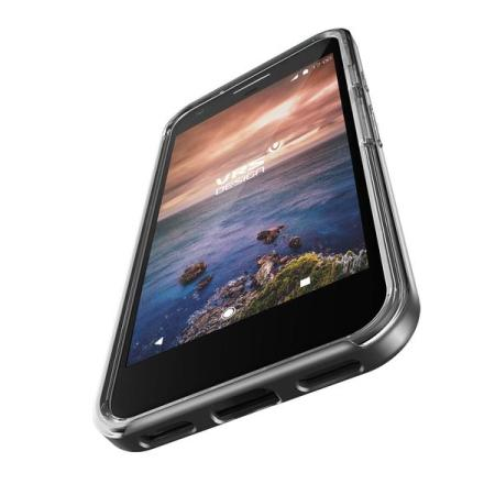 VRS Design Crystal Bumper Google Pixel Case - Dark Silver