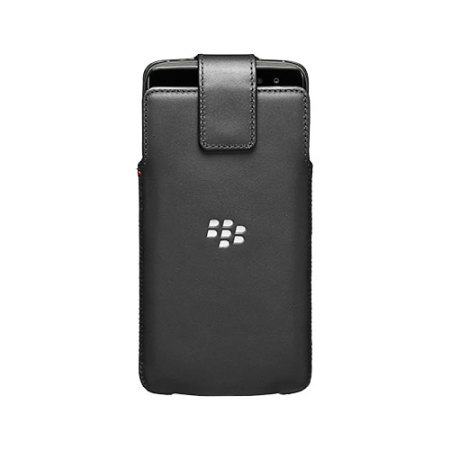 Official Blackberry DTEK60 Leather Swivel Holster Case - Black