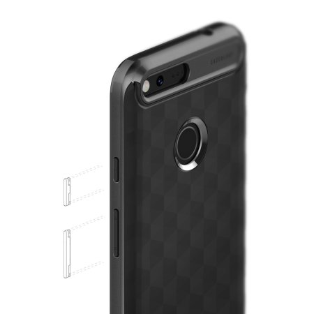 separation shoes fd784 f80a7 Caseology Parallax Series Google Pixel XL Case - Black