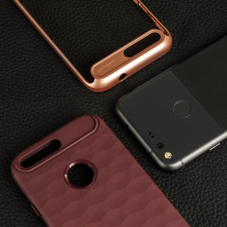 left stock order caseology parallax series google pixel case burgundy rose gold the power