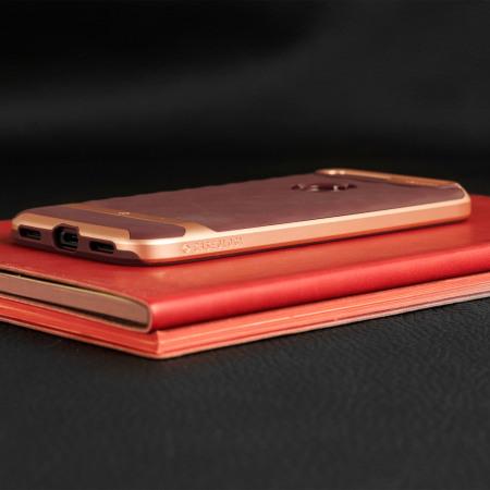 caseology parallax series google pixel case burgundy rose gold