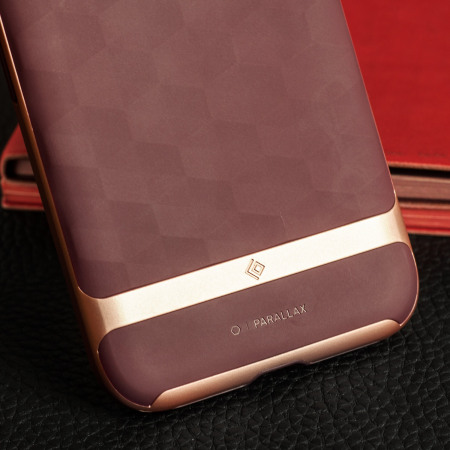 our caseology parallax series google pixel case burgundy rose gold device