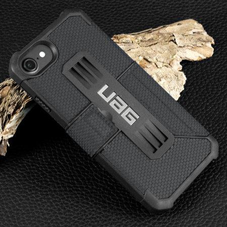 uag metropolis rugged iphone 8 / 7 wallet case - black