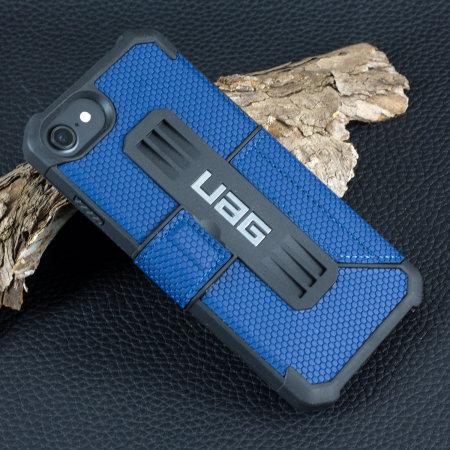 uag metropolis rugged iphone 8 / 7 wallet case - cobalt blue