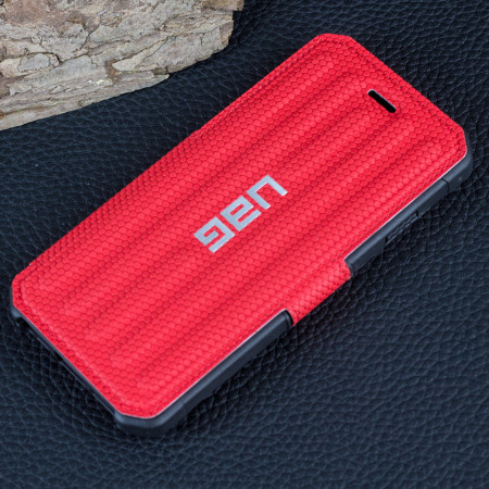 UAG Metropolis Rugged iPhone 7 Wallet Case - Magma Red