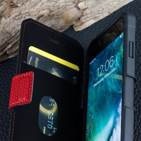 UAG Metropolis Rugged iPhone 8 / 7 Wallet Case - Magma Red