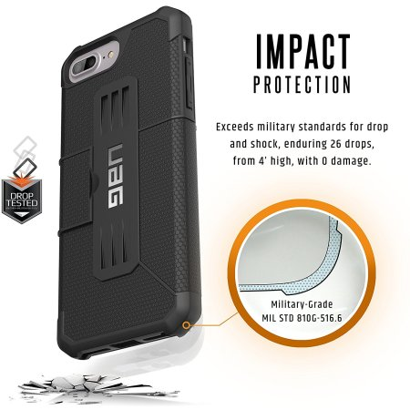 UAG Metropolis Rugged iPhone 8 Plus / 7 Plus Wallet Case - Black
