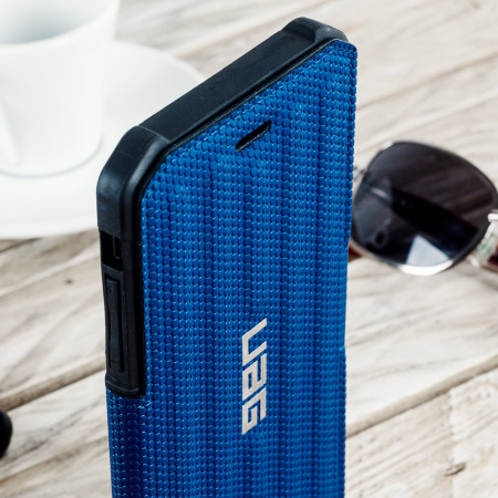 uag metropolis rugged iphone 8 plus / 7 plus wallet case - cobalt blue