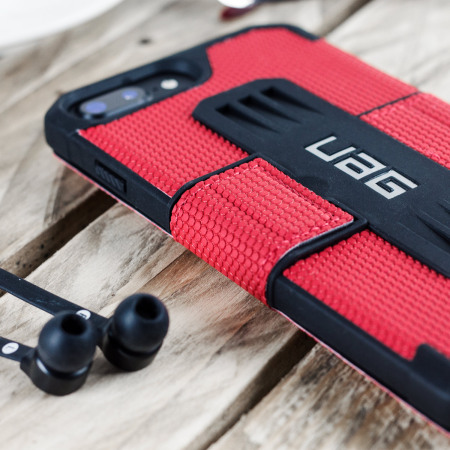 provide the uag metropolis rugged iphone 7 plus wallet case magma red phone