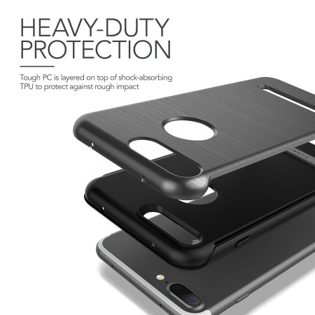 VRS Design Duo Guard iPhone 8 Plus / 7 Plus Case - Black
