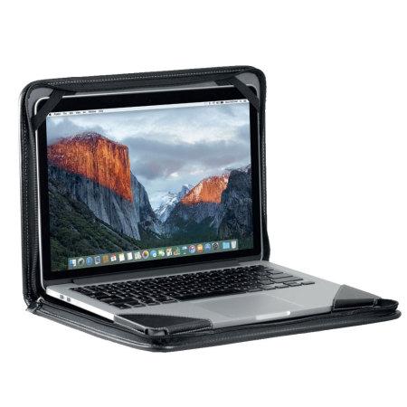 meet 8e95f 65bd3 Broonel Contour Universal 13 inch Genuine Leather Laptop Case - Black