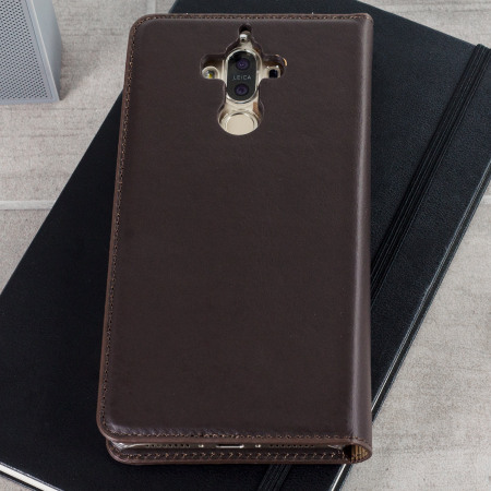 olixar genuine leather huawei mate 9 executive wallet case black