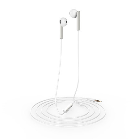 Official Huawei AM116 Earphones with In-Line Remote & Mic - Silver