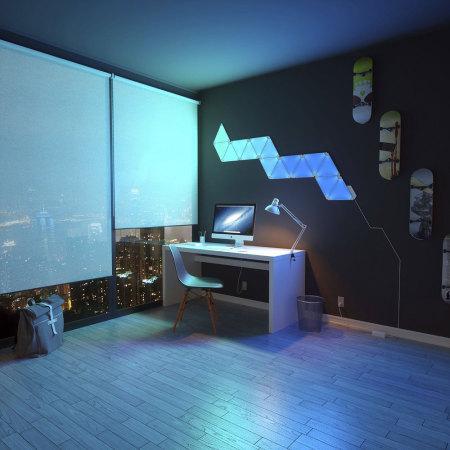 Kit de paneles de iluminación modular LED Nanoleaf Aurora  - 9 Pack