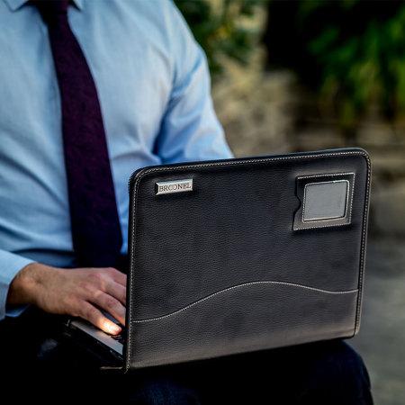 housse macbook pro 13 avec touch bar broonel contour en cuir noire. Black Bedroom Furniture Sets. Home Design Ideas