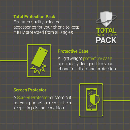 olixar total protection iphone 7 plus case & screen protector pack