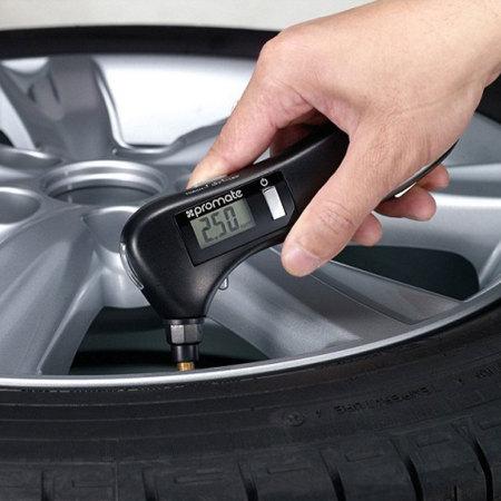Promate roadGear 9-in-1 Portable Digital Tyre Pressure Gauge