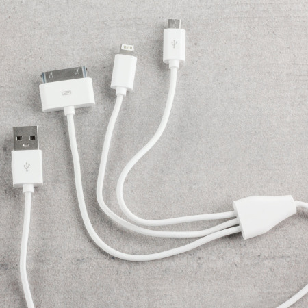 Olixar 3-in-1 Ladekabel (Apple 30-polig, Blitz, Micro USB) - 1m