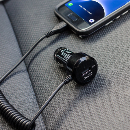 would olixar super fast micro usb car charger with usb port 4 8a black 2 card slots You