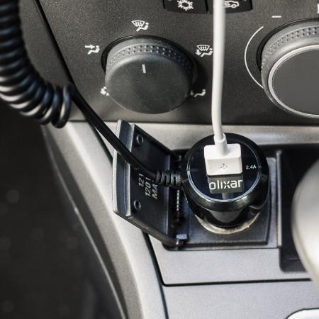Chargeur voiture Lightning Ultra Rapide Olixar port USB – 4.8A – Noir