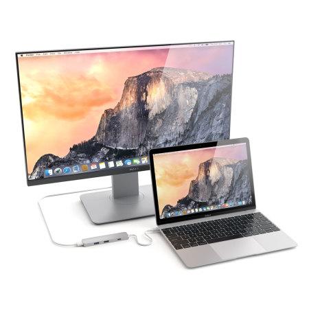 Satechi Slim USB C to HDMI 4K Multi-Port Adapter Hub - Silver
