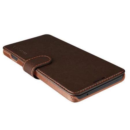 VRS Design Dandy Leather-Style LG V20 Wallet Case - Coffee Brown