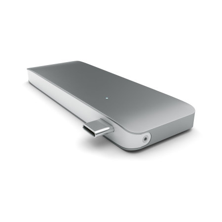 what satechi usb c adapter hub with usb charging ports space grey Pups