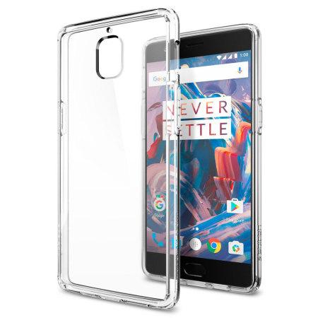 size 40 2bcf0 b1e1f Spigen Ultra Hybrid OnePlus 3T / 3 Bumper Case - Crystal Clear