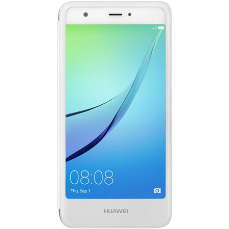 Official Huawei Nova Leather-Style Flip Case - White