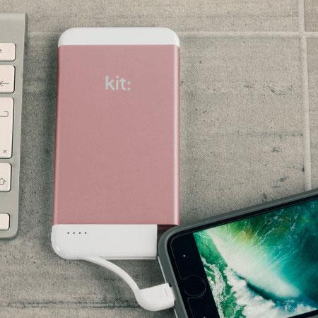 Kit Executive 4,100mAh Portable MFi Lightning Power Bank - Rose Gold