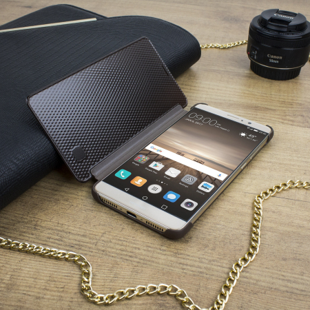 Official Huawei Mate 9 Leather-Style View Fodral - Brun