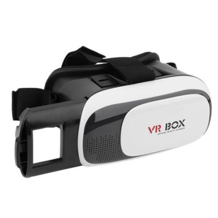 VR BOX V2 Virtual Reality 3D iPhone 7 Headset - White / Black