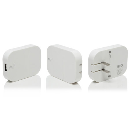 mu system worldwide traveller usb mains charger 2 4a white